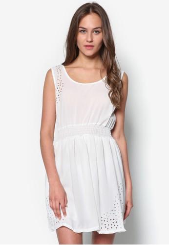 鏤空腰飾洋裝, zalora taiwan 時尚購物網服飾, 服飾