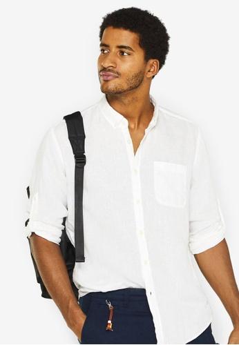15e3c977 Buy ESPRIT Woven Long Sleeve Shirt Online on ZALORA Singapore