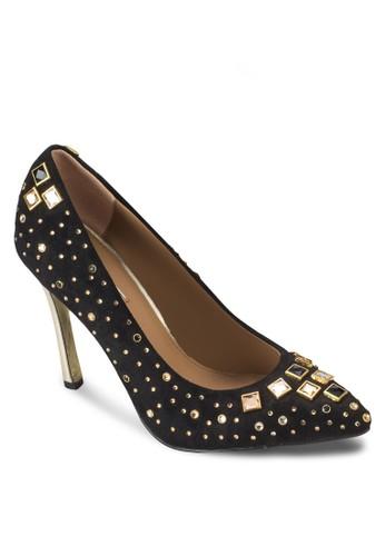 鑽石鉚釘細跟高跟鞋, 女鞋,esprit home 台灣 厚底高跟鞋