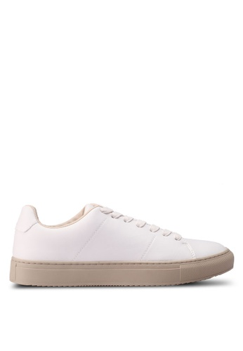 Burton Menswear London white Leather Look Trainers 8C8ACSHD3B61F3GS_1