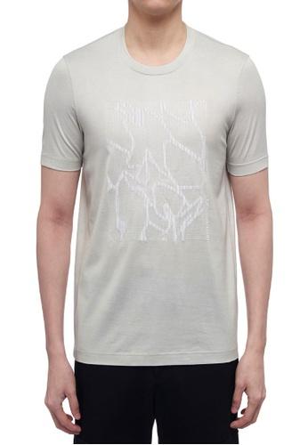 CK CALVIN KLEIN grey Double Mercerised Cotton Jersey Short-Sleeved T-Shirt FE57AAA631C847GS_1