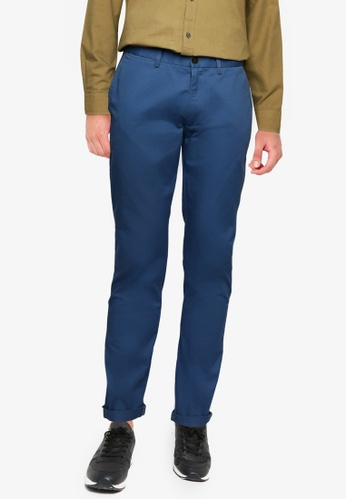 Ben Sherman blue Signature Skinny Stretch Chino 25889AA1607845GS_1