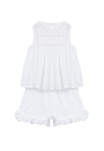 MANGO BABY white Openwork Cotton Pajamas 281EAKAB936621GS_1