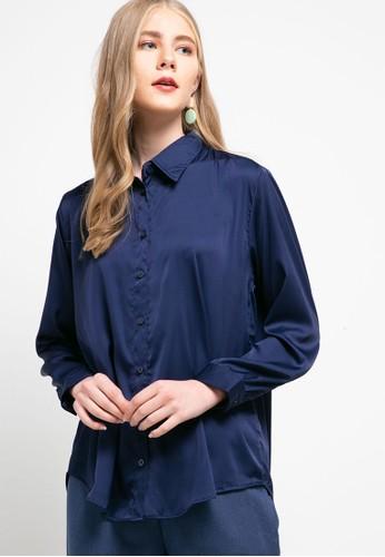 Magnificents Ladies navy Armiani Luxury Shirt 3F915AAD681B07GS_1