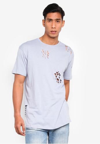 Brave Soul 藍色 圓領T恤 5D62EAACB6A5FFGS_1