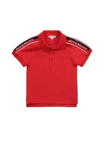 GIVENCHY KIDS red GIVENCHY BABY BOYS POLO SHIRT B9204KA8536D76GS_1