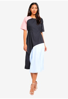 5f4385d2aa9 20% OFF BYSI Contrast Ruched Waist Dress S  79.00 NOW S  62.90 Sizes S M L
