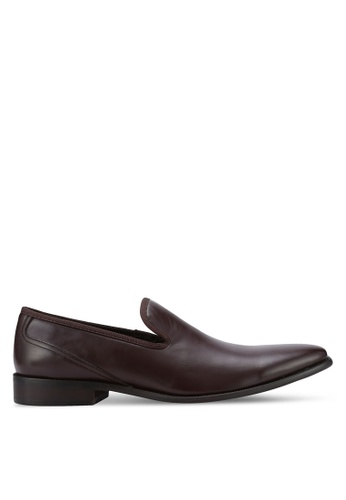 ZALORA brown Essential Faux Leather Slip On Dress Shoes BBA25AA74778FFGS_1