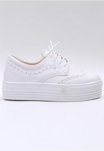 Crystal Korea Fashion 白色 韓國制百搭厚底舒適休閒鞋 5F6B7SH54D1F0CGS_1