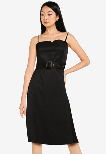 ZALORA BASICS black Utility Cami Dress 02A89AA36ABE31GS_1