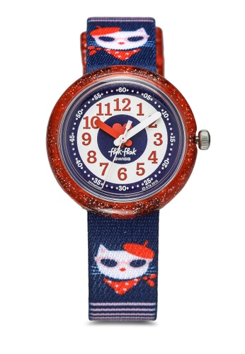 Flik Flak blue Catitude Watch D005EKC05A7DB4GS_1
