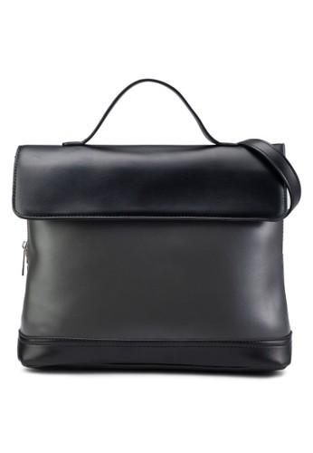 撞色翻蓋手提包、 包、 包ZALORA撞色翻蓋手提包最新折價