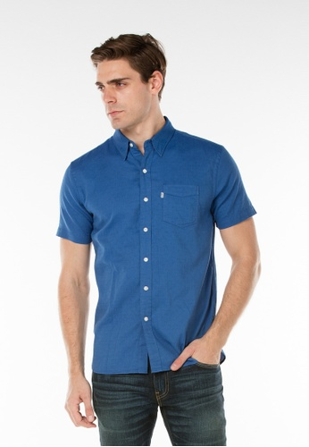 Levi's blue Short Sleeve Sunset One Pocket Shirt LE843AA13JJISG_1