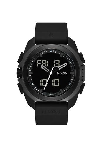 Nixon black Ripley Rubber Black Mens Watch NA1267000-00 B3809AC5766078GS_1