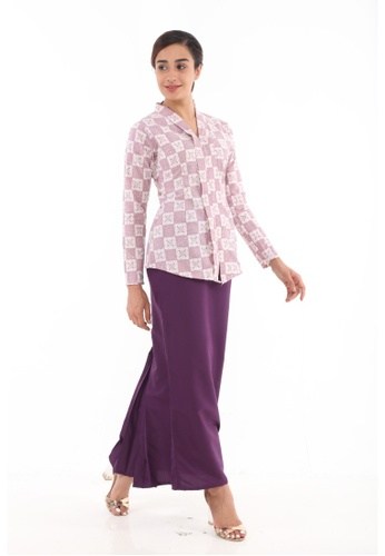 Kebaya Midi Batik Moden from Amar Amran in Purple