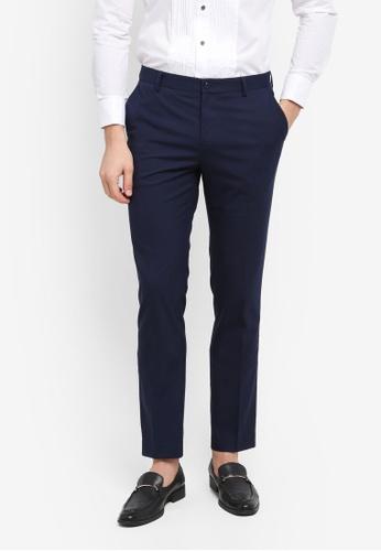 G2000 blue and navy TR Textured Formal Ultra Slim Pants E6DCDAA8FD6EC2GS_1