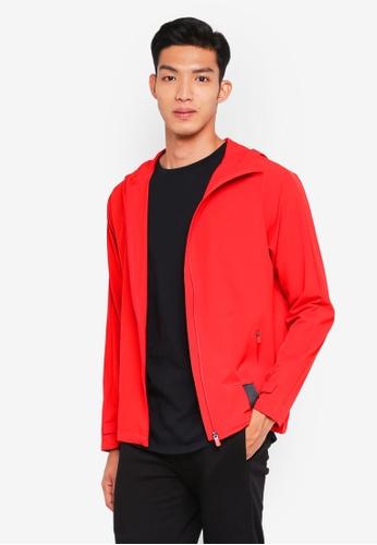 Calvin Klein red Reflect Hood Woven Jacket 8C40DAA6FAD634GS_1