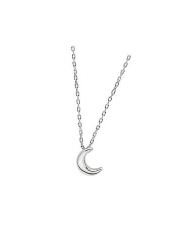 LYCKA silver LDR1311 S925 Silver Crescent Moon Necklace 561C1AC1412318GS_1