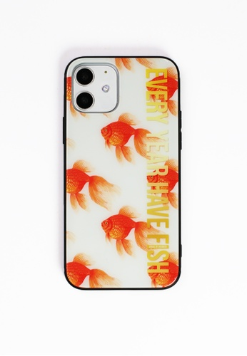 House of Avenues orange Every Year Have Fish Tempered Glass Shell Phone Case For iPhone 12 6C275AC0612706GS_1