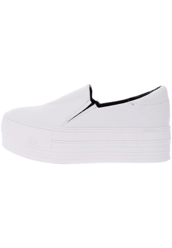 Maxstar C7 50 Synthetic Leather White Platform Slip on Sneakers US Women Size MA168SH51DYIHK_1