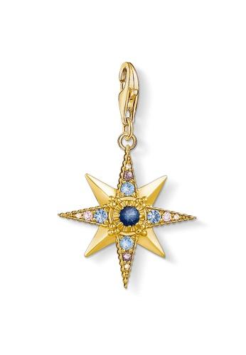 "THOMAS SABO gold Charm pendant ""Royalty Star"" EDE1DACC9EA4A7GS_1"