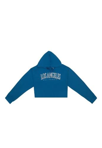 DRUM blue Los Angeles Hoodie Jumper- Blue 5588CAA35B3F6FGS_1