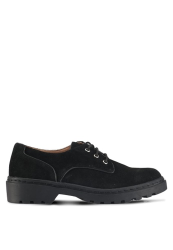TOPSHOP black Flame Lace Up Shoes BA74BSHB5CC87BGS_1