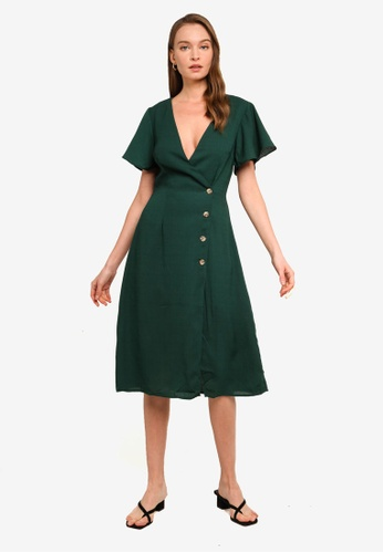 Sável green Analia Dress 466BFAA9E71AA8GS_1