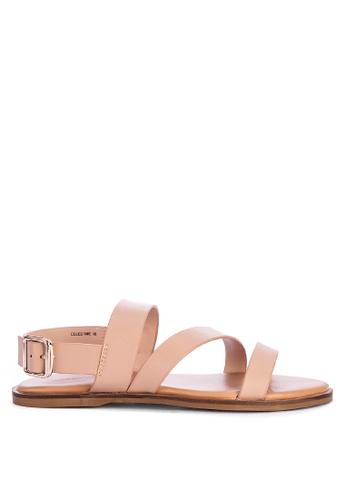 Matthews beige Celestine Strappy Sandals 66419SH4E1B50DGS_1