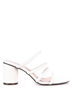 769104de4a5 Rock Rose white Geometric Block Heel Sandals B726BSH28FFD71GS 1