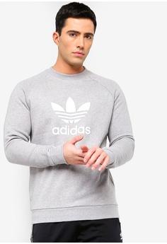 380982ac5d9c5 adidas grey adidas originals trefoil crew sweatshirt BDD5FAAE26343FGS 1