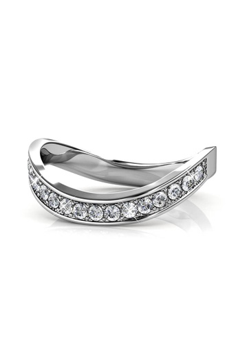 Her Jewellery silver Gracious Ring (White Gold) 75B8FACB7FFD54GS_1