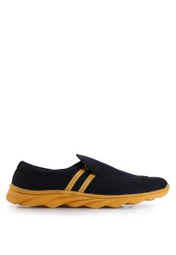 Dr. Kevin black Loafers, Moccasins & Boat Shoes Shoes 13270 Hitam/Kuning Denim DR982SH18MHLID_1
