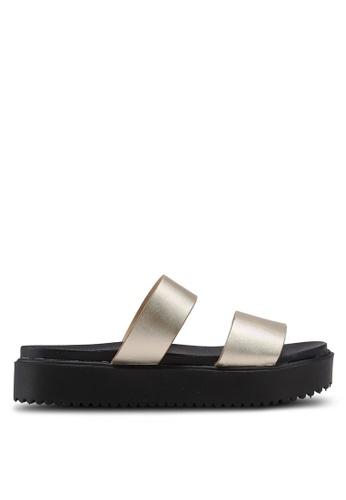 Bata 黑色 金屬感厚底拖鞋 08150SH8472E90GS_1