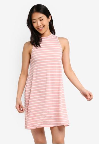 ZALORA BASICS pink Basic Sleeveless Dress 18CF5AAC6CC7A4GS_1