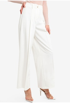 84432b0a4922 Miss Selfridge white Ivory Curved Waistband Trousers 20088AAEDDEFF0GS 1