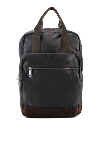93933ab0177e NUVEAU grey Colour Block Nylon Backpack 748A3AC5D18525GS 1