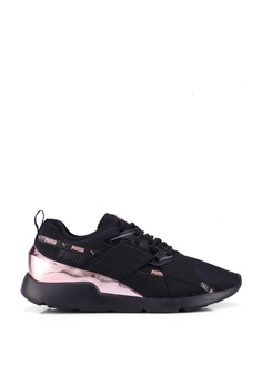 06b19b2d1d1e PUMA black Muse X-2 Metallic Women's Trainers C41F3SHE8F9671GS_1
