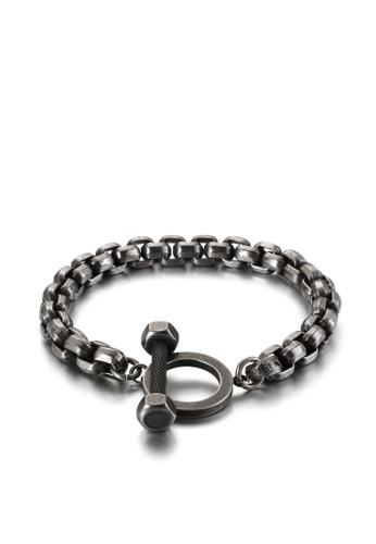 HAPPY FRIDAYS Barbell Titanium Steel Bracelet KL123280 B4EA4AC3EDB31EGS_1