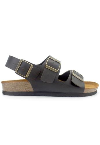 SoleSimple 黑色 Milan - 黑色 百搭/搭帶 軟木涼鞋 774F6SH25C92D5GS_1