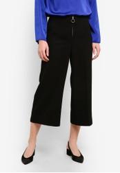Dorothy Perkins black Black Zip Culottes DO816AA0RN0BMY_1