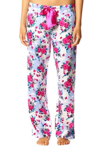 Poppyesprit 中文 蝴蝶結印花睡覺長褲, 服飾, 睡褲