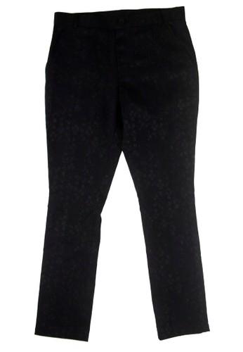 十字印zalora 評價花個性長褲, 服飾, 直筒褲