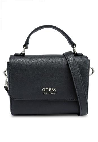 Guess black Little Paris Mini Crossbody Flap Bag EC4C8ACEE770FBGS_1