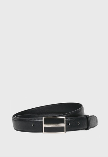Tocco Toscano black Leather Belt w Pin Buckle (Black) - 35mm width TO281AC31ALWSG_1