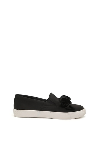 London Rag black Stormy Bow Slip-on Sneaker SH1419 920B6SH7FB56BEGS_1