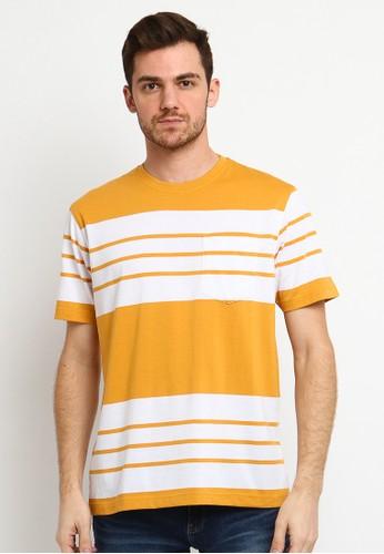 Arnett yellow Arnett Baju Pria Tshirt Lengan Pendek Stripe Yellow 4A9ACAA4782B7AGS_1