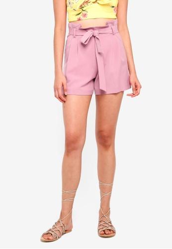 Miss Selfridge pink Dusty Pink Paper Shorts 47E72AAB576BA2GS_1
