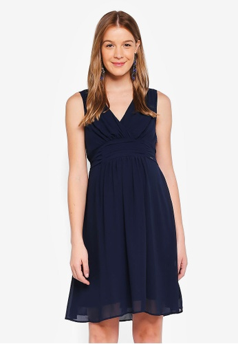 Noppies navy Maternity Liane Woven Dress 67220AAAD07411GS_1