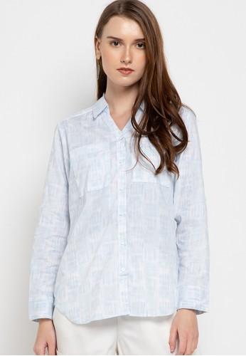 novel.mice blue Printed Cotton 2 Pocket Shirt 9E422AAC888DBCGS_1